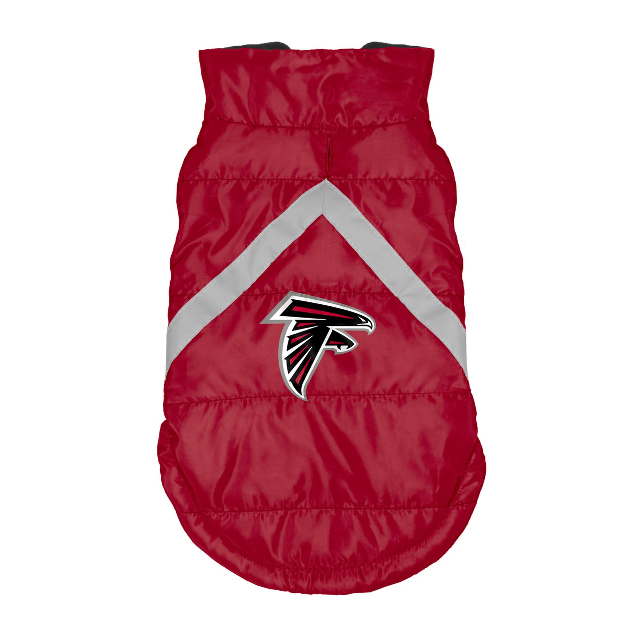 purchase cheap 264f1 419a9 Atlanta Falcons Dog Pet Premium Puffer Vest Reflective Jacket