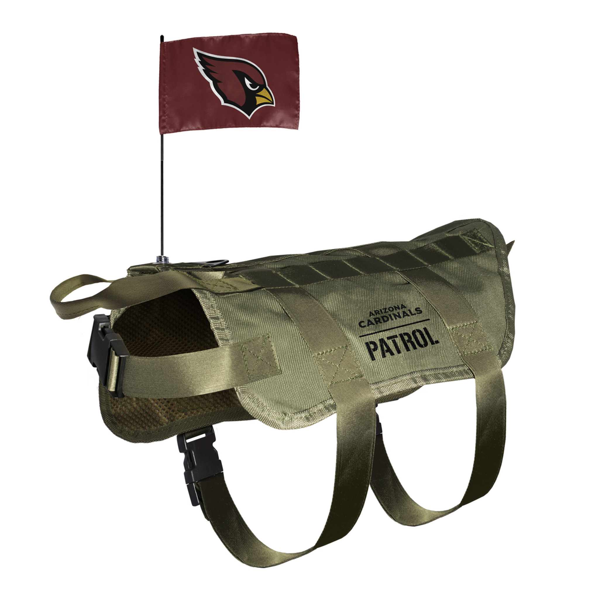 bbca07ed Arizona Cardinals Dog Pet Premium Tactical Vest Harness w/ Flag