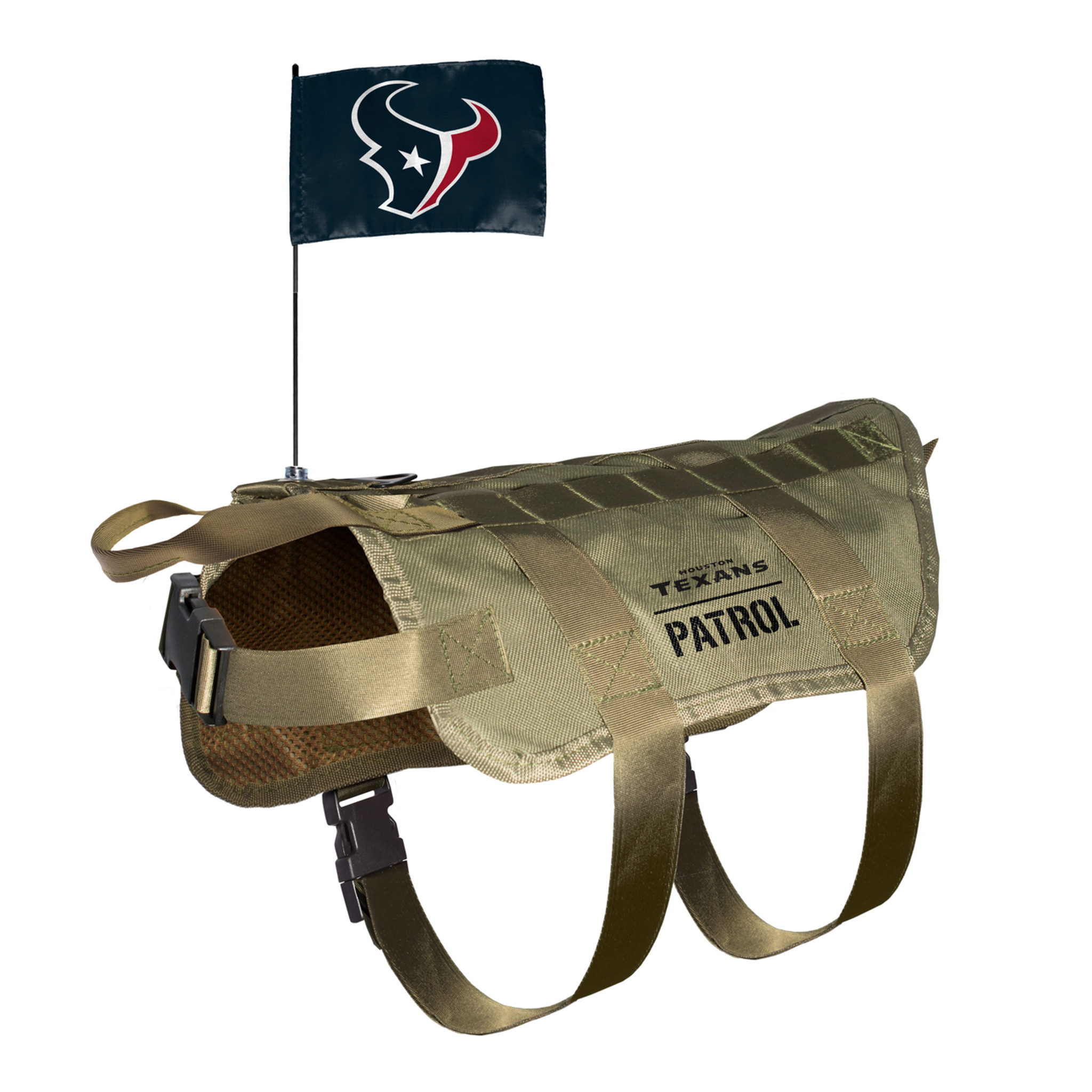 7b3b84615 Houston Texans Dog Pet Premium Tactical Vest Harness w/ Flag - Spawty