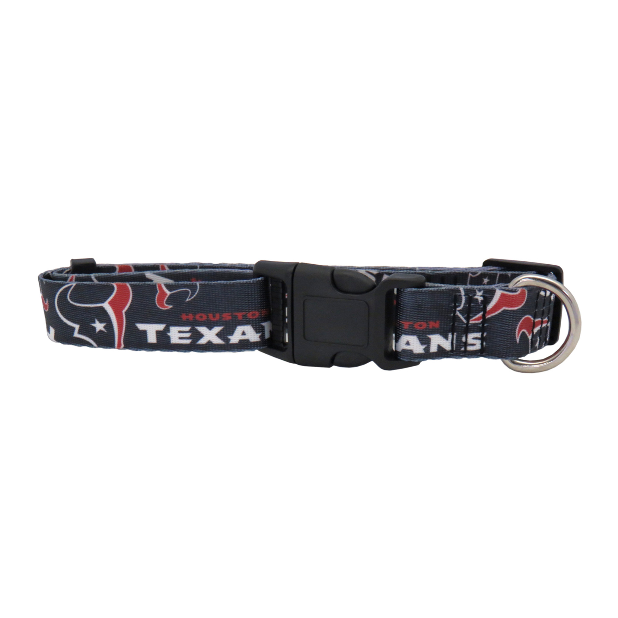 141890ea7 Houston Texans Dog Pet Adjustable Nylon Logo Collar - Spawty