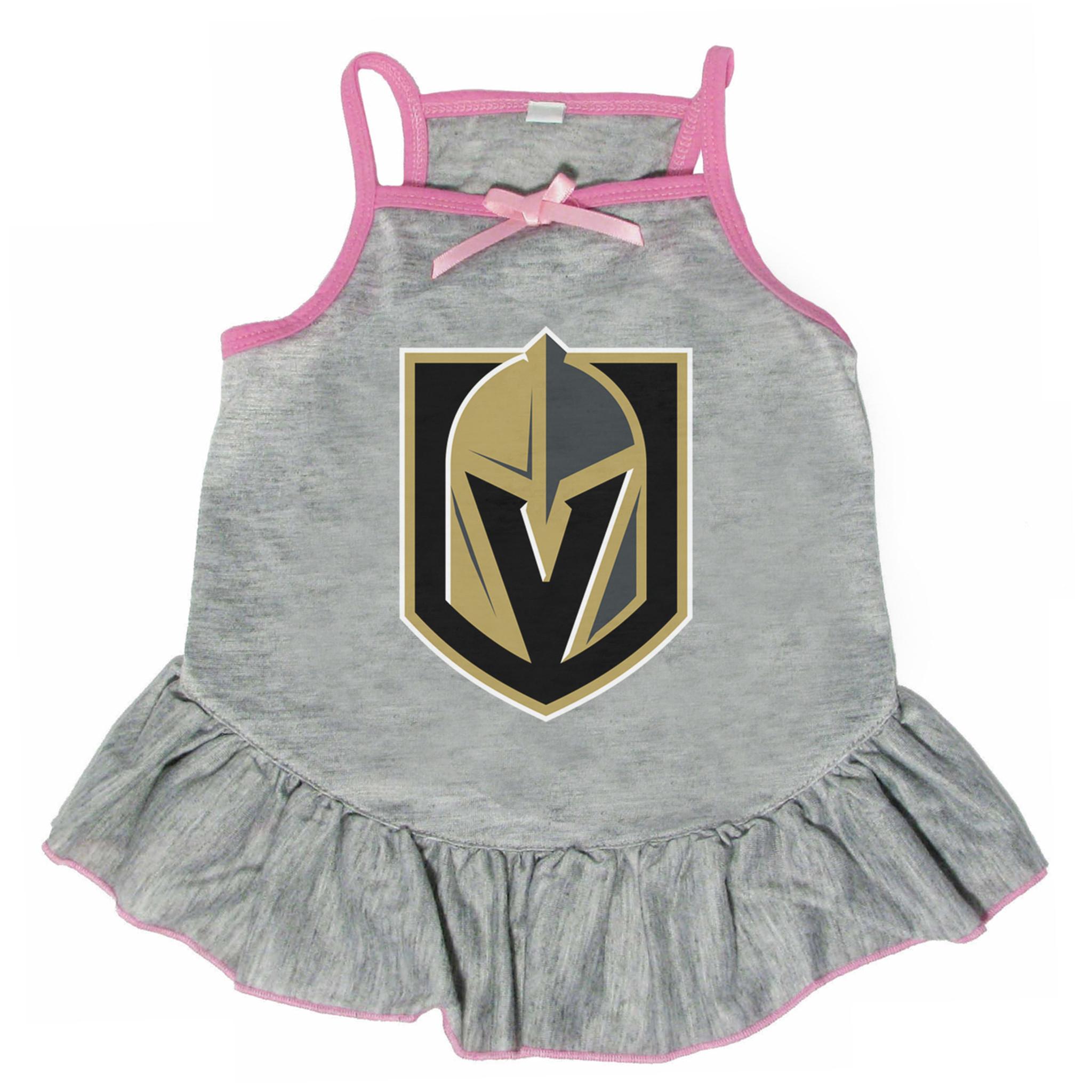 uk availability 73e76 4d6ea Vegas Golden Knights Dog Pet Pink Jersey Tee Dress