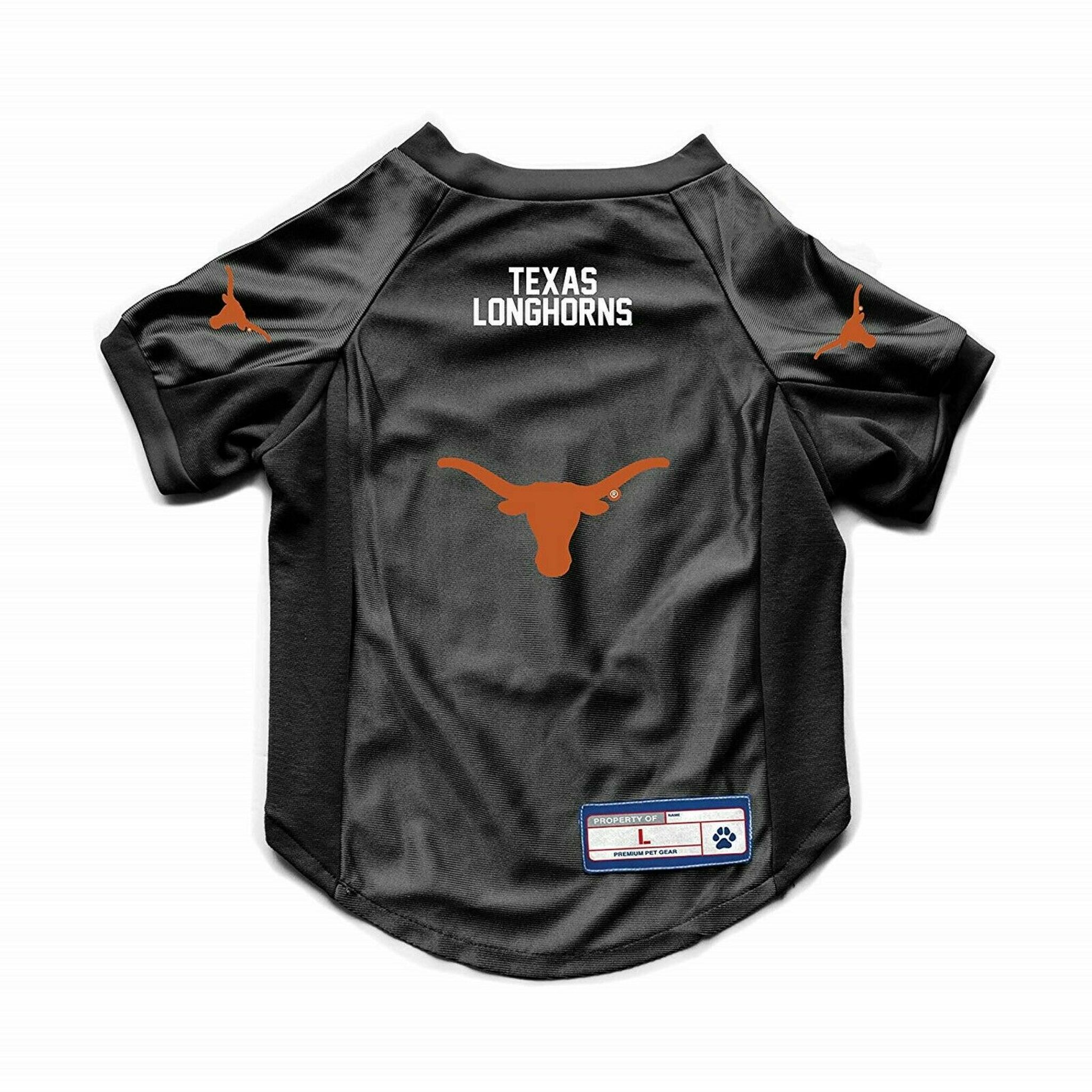 wholesale dealer 89a68 67043 Texas Longhorns Dog Cat Deluxe Stretch Jersey