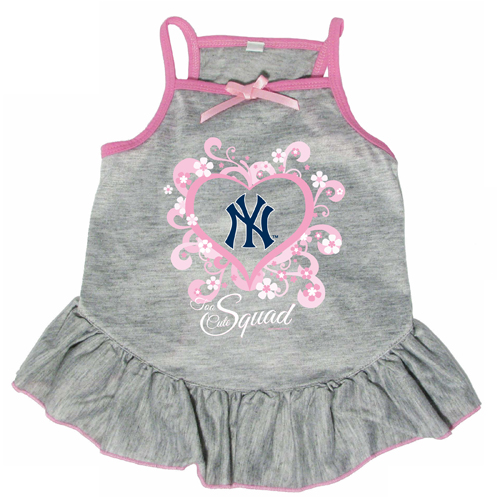 official photos 4d89e bac99 New York Yankees Dog Pet Pink Too Cute Squad Jersey Tee Dress