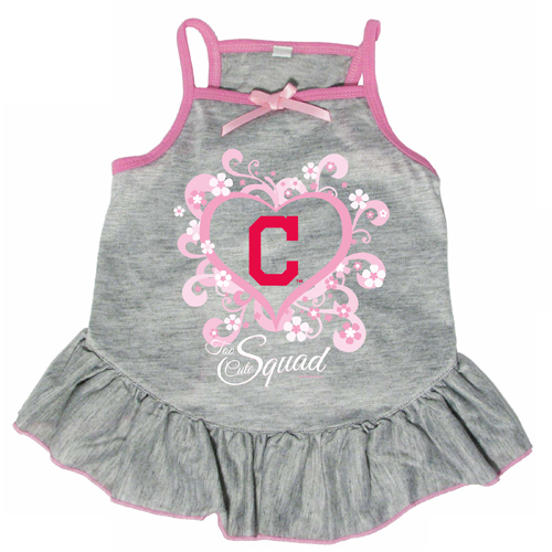 best sneakers c4cb6 717fd Cleveland Indians Dog Pet Pink Too Cute Squad Jersey Tee Dress