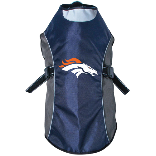half off dd9ef cad6d Denver Broncos Dog Pet Premium Reflective Jacket