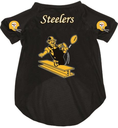 ef4e36793b3 Pittsburgh Steelers Dog Pet Mesh Football Jersey Throwback - Spawty