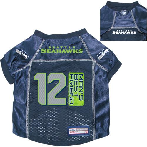 new style b188f 36074 Seattle Seahawks Dog Pet Premium 12th Man's Best Friend Mesh Football Jersey
