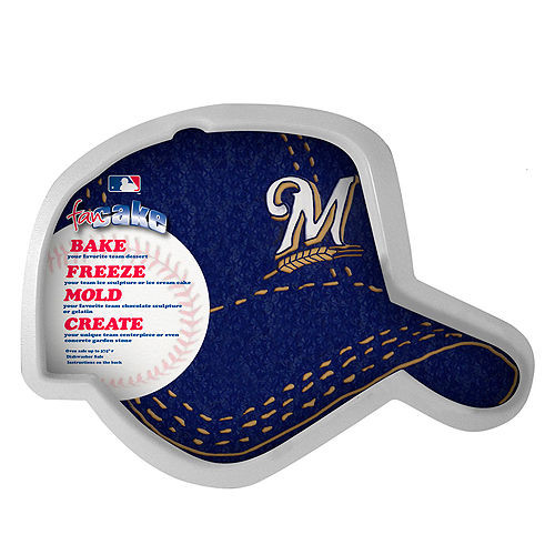 fa4787c929daa8 Milwaukee Brewers Baseball Cap Cake Pan - Spawty