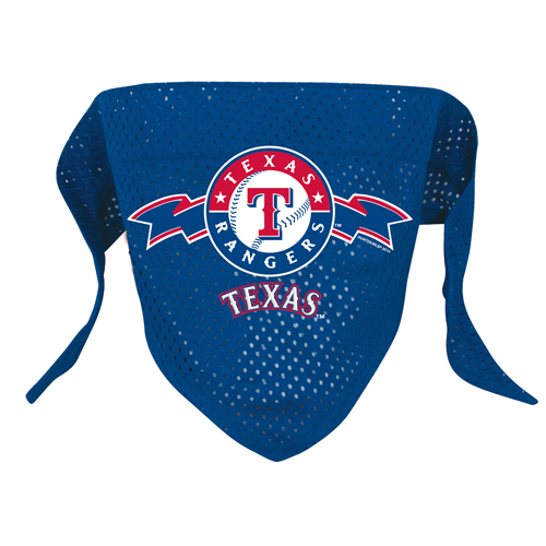 finest selection 57356 4e141 Texas Rangers Dog Pet Mesh Baseball Jersey Bandana