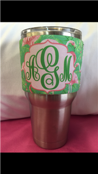 Stainess Wrap for 30oz Tumblers - Ship Design - Pink Flamingos