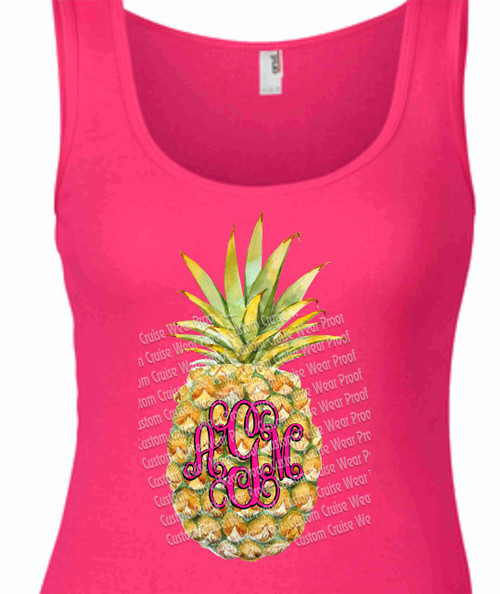 Pineapple Initial Shirt