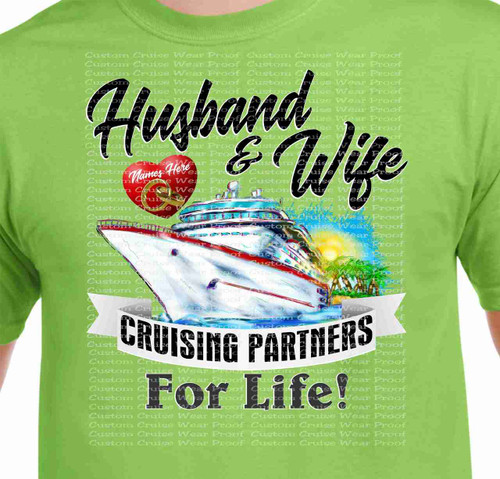 Husband and Wife Cruising Partners For Life with Ship