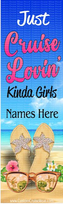 DOOR BANNER - Cruise Loving Kinda Girl with Flip Flops