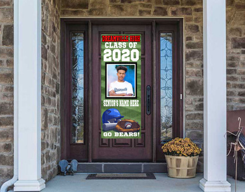 Class Of  2020 Front Door Banner - BASEBALL