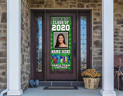 Class Of  2021 Front Door Banner - DANCE