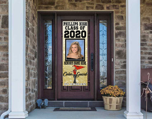 Class Of  2020 Front Door Banner - COLOR GUARD