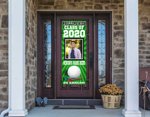 Class Of  2021 Front Door Banner - GOLF