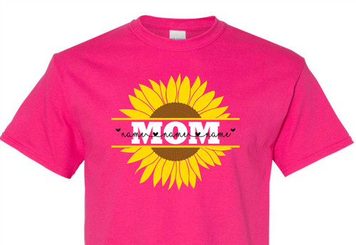 Sunflower Mom with Children's Names