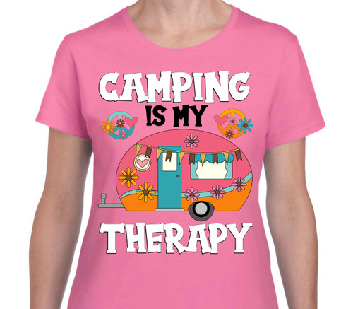 Camping Is My Therapy Peace Camper