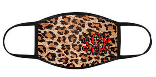 Fashion Facial Cover - Leopard Print with Initials