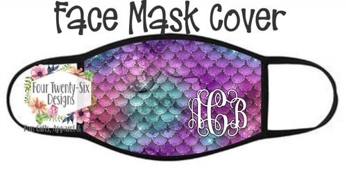 Face Cover - Glittery Mermaid Scales