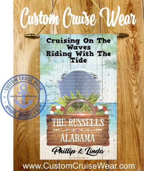 Cruise ship door banner Custom Banner available in 3 sizes Show off your cruising spirit with your unique door banner!