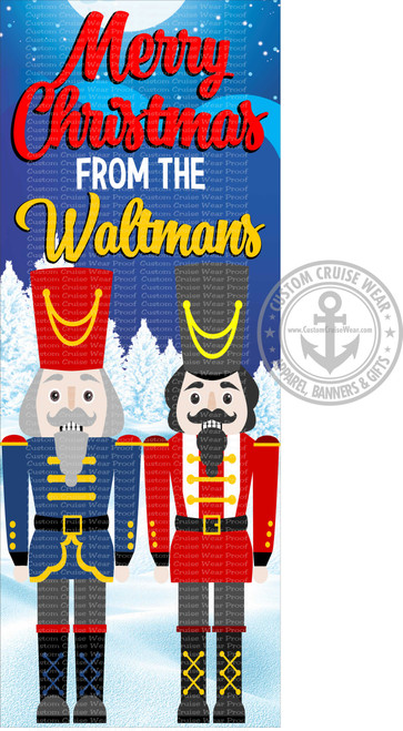 Front Door Banner - Christmas Nutcracker Pair