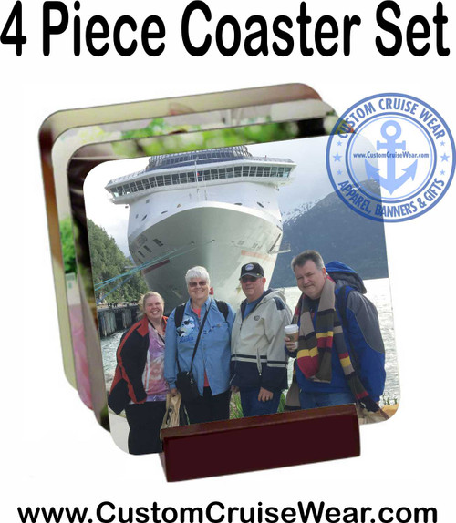 Coaster Set with Photos and FREE DISPLAY STAND