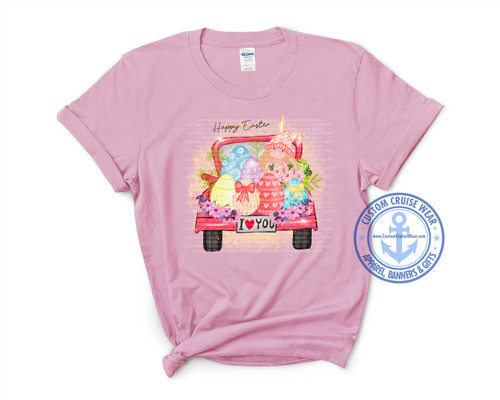 Easter Shirt Design - Gnome in Truck