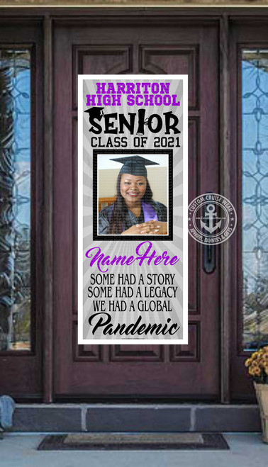 2021 Graduation Pandemic Story Front Door Banner