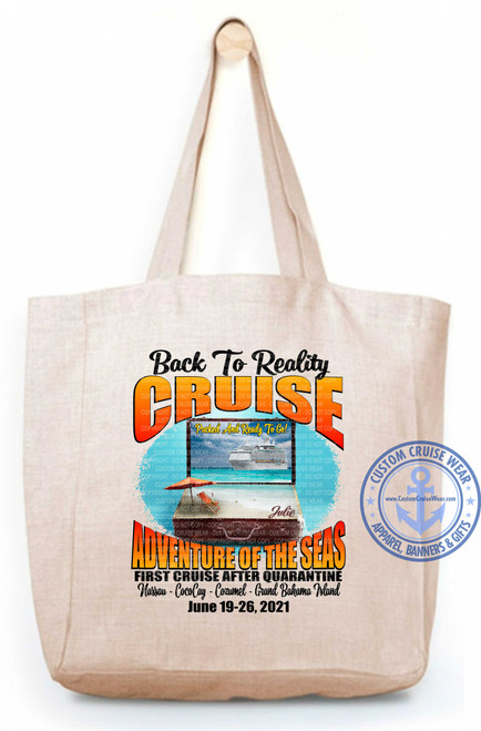 Adventure of the Seas June 19 2021 Back to Reality Cruise With Suitcase TOTE BAG