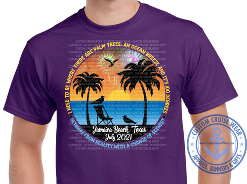 Special Order Design Donna Tipton I Need To Get Away Sunset with Palm Trees July 2021