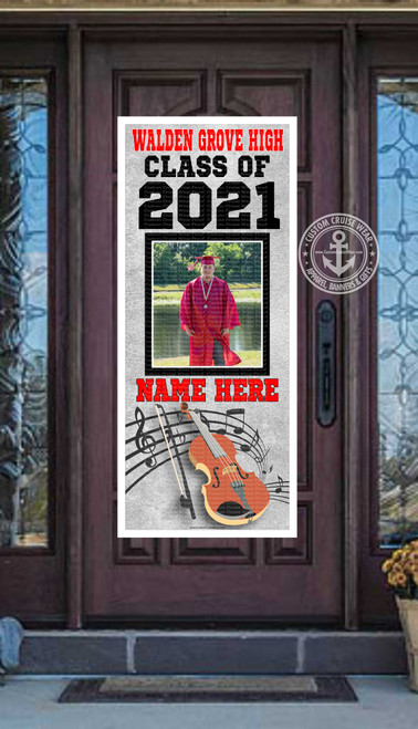 Senior Front Door Banner - VIOLIN