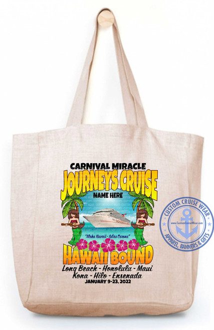 Miracle January 9 2022 Journeys Cruise with Hula Girls and Palm Trees TOTE