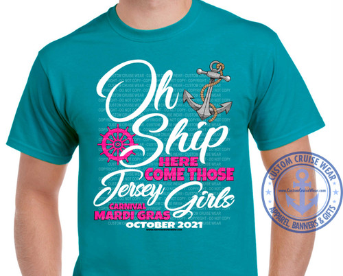 Oh Ship Jersey Girls Anchor with Ship Wheel