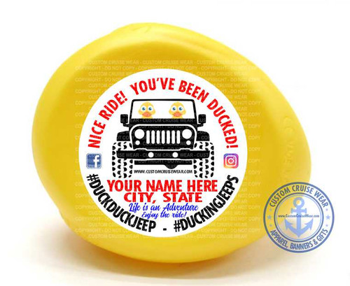 Duck Duck Jeep Stickers!
