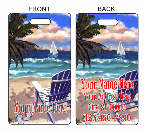 Luggage Tag Beach Chair