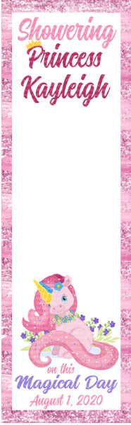 DOOR BANNER - Princess Kayleigh Baby Shower Cute Unicorn Autograph