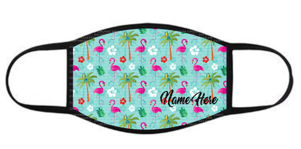 Face Cover - Flamingo Pattern