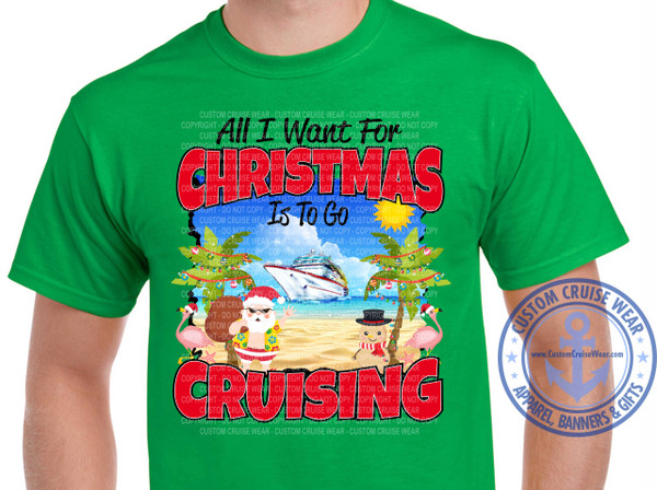 All I Want For Christmas Is To Go Cruising Beach Santa