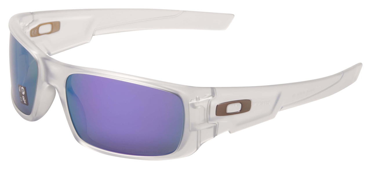 Oakley Crankshaft Sunglasses OO9239-09 Matte Clear | Violet Iridium Polarized Lens