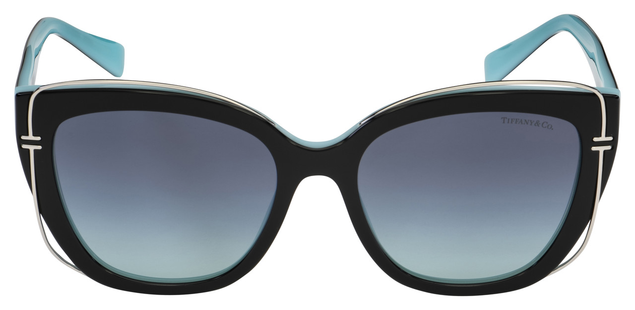 Tiffany & Co. Sunglasses TF 4148 80559S 54 Black/Azure Frame | Azure Gradient Lens