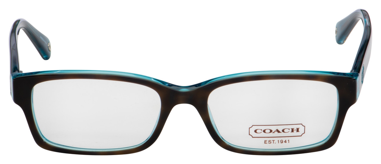 Coach Brooklyn Eyeglasses HC 6040 5116 50 Dark Tortoise/Teal Frame [50-16-135]