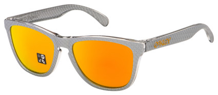 Oakley Frogskins Sunglasses OO9013-C155 Checkbox Silver | Fire Iridium Lens