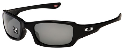 Oakley Fives Squared Sunglasses OO9238-06 Polished Black | Black Iridium Polarized Lens