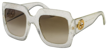 Gucci Sunglasses GG0053S 004 Silver Frame | Brown Gradient Lens