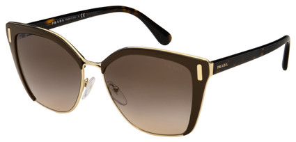 Prada Sunglasses PR 56TS DHO3D0 57 Brown/Pale Gold Frame | Brown Gradient Lens