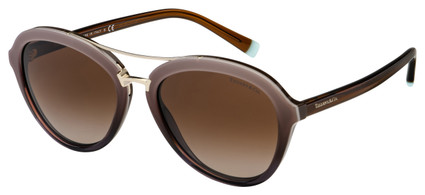 Tiffany & Co. Sunglasses TF 4157 82773B 55 Brown/Gold Frame | Brown Gradient Lens