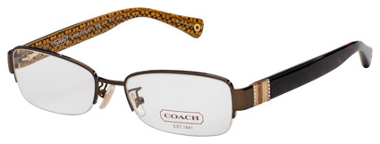 Coach Cecily Eyeglasses HC 5027B 9094 52 Dark Brown/Dark Tortoise Frame [52-17-135]