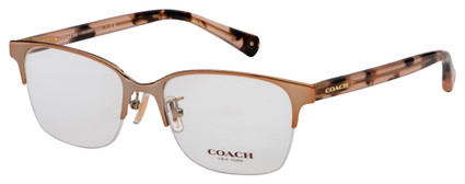 Coach Evie Eyeglasses HC 5047 9331 52 Shiny Rose Gold Frame [52-17-135]
